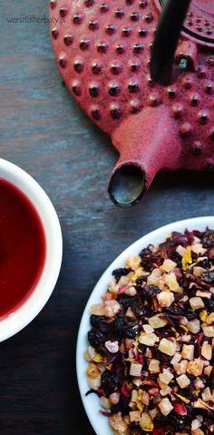 Herbata Owocowa - ananas, papaja, mango, hibiskus, rodzynki, róża, słonecznik Tea - mix fruit