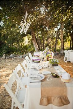 rustic wedding reception ideas with family style seating.