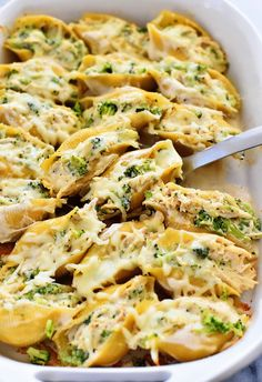 Chicken & Broccoli Alfredo Stuffed Shells - Life In The Lofthouse