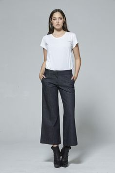 Spring Summer 2015, Cropped Pants, Indigo, Two By Two, Contrast, Normcore, Silhouette, Collection, Fashion