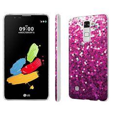 Buy LG [G Stylo2/G Stylus 2] Phone Case [NakedShield] [Matte] Ultra-Slim Jacket Cover Case - [Pink Glitter Print] for LG [G Stylo 2] [G Stylus 2] NEW for 9.95 USD | Reusell