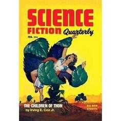 Buyenlarge Science Fiction Quarterly: Killer Plants Vintage Advertisement Size: