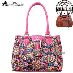 Discover our new Montana West collection on www.handbagloverUSA.com MW116G-8332 Concealed Handgun Collection Handbag-Hot Pink - Western Handbag purse