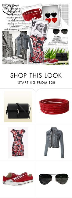 """""""red"""" by tanja133 ❤ liked on Polyvore featuring Arco, Gucci, French Connection, Converse, Ray-Ban and Kate Spade"""