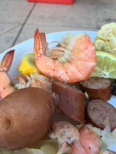 Shrimp Boil from 4th of July. Yummy, but what a mess to make!
