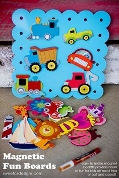 Magnetic Fun Boards are an awesome boredom buster for long road trips, eating out, or any other place you need a good distraction for your little one!