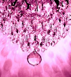 A radiant pink chandelier. Inspiration for pink gems! Photo inspiration only.