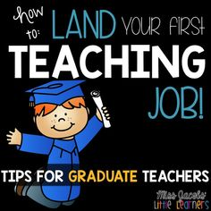 HOW TO LAND YOUR FIRST TEACHING JOB! Tips for graduate and new teachers from Miss Jacobs Little Learners. Interviews, Key Selection Criteria , Teacher Portfolios, and more. Get everything to assist in landing your first teaching job by clicking here. Teaching Resume, Teaching Jobs, Student Teaching, Teaching Ideas, Teaching Materials, Teacher Interview Questions, Teacher Interviews, Job Interviews, Teaching Interview Tips