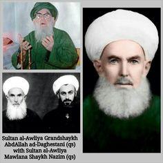 """""""Sultan al-Awliya, Grandshaykh AbdAllah al-Fa'iz ad-Daghestani (qs), 39th Master of the Naqshbandi Golden Chain and shaykh of Sultan al-Awliya Mawlana…"""""""