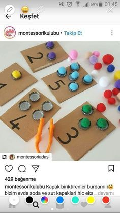Mathe lernen brin – # maths … – # maths - Old School Toddler Learning Activities, Montessori Activities, Kindergarten Activities, Preschool Activities, Kids Learning, Activities For Kids, Maria Montessori, Mobile Learning, Learning Quotes