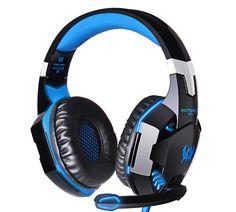 Model: KOTION EACH G2000 LED Pro Gaming Headset, Gaming Headphones, Headphones With Microphone, Headphone With Mic, Noise Cancelling Headphones, Gaming Computer, Laptop Computers, Over Ear Headphones, Avengers