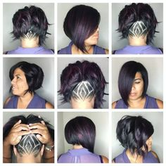 Another new client inspired by my mauve fluer-de-lis came in wanting a fun… Undercut Bob Haircut, Undercut Hairstyles, Love Your Hair, Cut My Hair, Cute Haircuts, Cute Hairstyles, New Hair 2018, Short Hair Cuts, Short Hair Styles