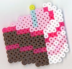 Slice of Cake perler beads by pokeman112 on deviantart