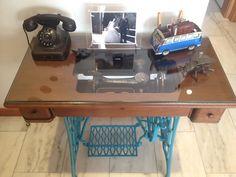 repurposing old sewing machine recuperação de antiga máquina de costura