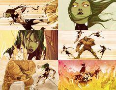 Gamora in Guardians of the Galaxy Infinite Comics 03