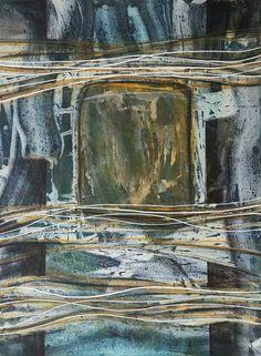 إحسان صطوف  Ehssan Sattouf Monotype: Oil paints on paper مونوتايب 42 x 31 cm