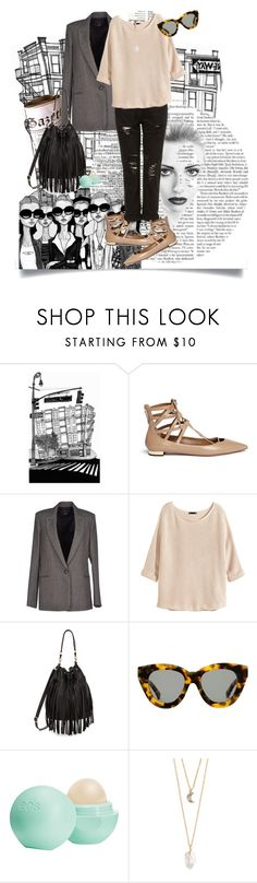 """""""Untitled #587"""" by lia612 ❤ liked on Polyvore featuring Aquazzura, Theory, H&M, B-Low the Belt, Karen Walker, Eos and With Love From CA"""