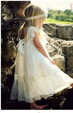 Dressed like a little princess, what a lovely dress.