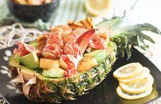 Grilled pineapple and lobster salad - Mytaste.com