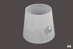 Conica 20x15x17 Lino Blanco Elefante Gris