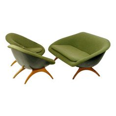http://www.deconet.com/pictures/product/large/1389758.jpg Item Description 1960's seating designed by Walter S Chenery for Lurashell. The shell is made from moulded fibre glass with teak legs, it has almost no weight. A sofa and two armchairs are included.   Measurements of the armchair: 76x69x80 cm, sitting height: 35 cm  Measurements of the sofa: 180x75x80 cm, sitting height: 40 cm