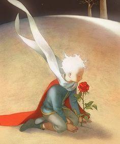 illustration by Bo Olson of The Little Prince (Antoine de Saint-Exupéry)