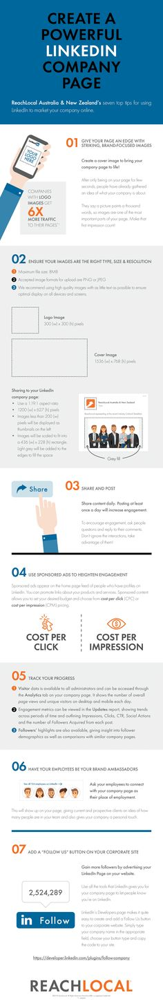#Infographic - Create a Powerful LinkedIn Company Page