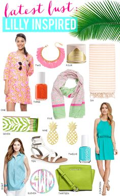 Missed out on the Lilly for Target Collection? Check out this Lilly Pulitzer Inspired Home + Fashion!