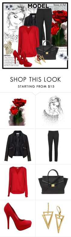 """Untitled #738"" by jgirl101 ❤ liked on Polyvore featuring Zizzi, RED Valentino, Velvet by Graham & Spencer and Forever 21"