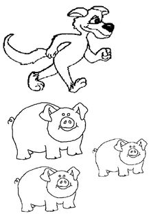 1000 images about 3 little pigs on pinterest little for The three little pigs puppet templates