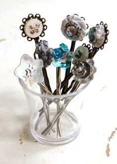 Silver Tone Vintage Inspired Hair Clip