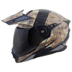 ScorpionExo EXO Unisex Adult Flip Up Style Battleflage Helmet Sand Large Motorcycle Outfit, Motorcycle Helmets, Bicycle Helmet, Riding Gear, Riding Helmets, Carbon Fiber Helmets, Motorbike Accessories, Tactical Helmet, Helmet Design