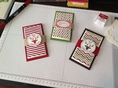Gift card holders.  In board titled Stampin Up. I need to use my Stampin Up stuff more