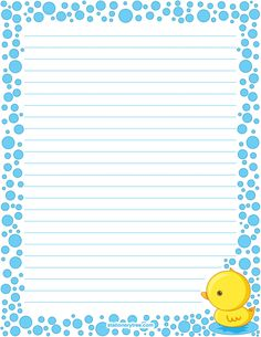 Printable duck stationery and writing paper. Free PDF downloads at http://stationerytree.com/download/duck-stationery/.