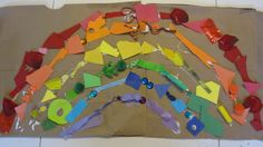 Scrap paper and random trash art for toddlers or preschool.