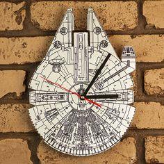 Keywords: Star Wars Millennium Falcon patent print design clock. Star wars poster, star wars art, hans solo, darth varder, death star, at-at,