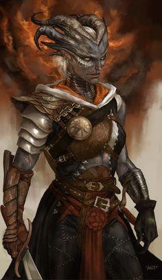female qunari inquisitor - ymir