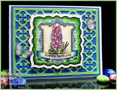 birthday card colored w/ copics - ODBD new images & quatrefoil die