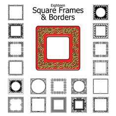 Download 18 Free Square Frame and Border Designs: Free Download: 18 Frame and Border Designs