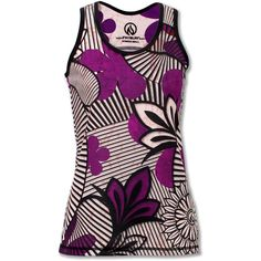 Women's Hana Singlet (54 CAD) ❤ liked on Polyvore featuring inknburn, purple, tanks, tops and flowers