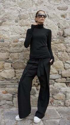 Shop By Outfit, Plus Size Pants, Casual Looks, Fall Outfits, Jumpsuit, Normcore, Tops, How To Wear, Black