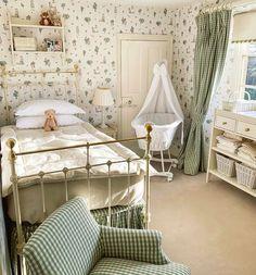 Cottage Nursery, Big Girl Rooms, Apartment Living, Girls Bedroom, Room Inspiration, Kids Room, Child Room, Interior Design, Interior Ideas