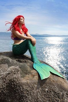 """Wanna see some awesome Disney Cosplay from around the world? Ariel """"Who says that my dreams. Have to stay just my dreams"""" Mermaid Photo Shoot, Mermaid Pose, Mermaid Cosplay, Fin Fun Mermaid, Mermaid Pictures, Mermaid Fairy, Ariel The Little Mermaid, Realistic Mermaid Tails, Mermaid Man"""
