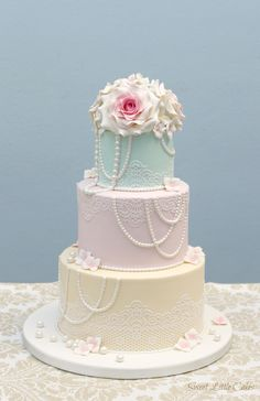 But with ombre pink pastels on each tier