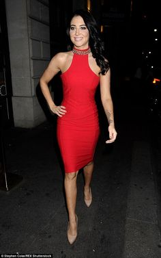 Red hot: Little Mix's X Factor mentor, Tulisa, stood out in s striking red mini dress. Underrated Artists, Tulisa Contostavlos, Magic Party, Dress Cuts, Little Mix, Bodycon Dress, Celebs, Style Inspiration, Hot