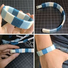 Make a USB flashdrive bracelet ~ Love this idea but I'd use brighter colors....