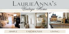 reclaimed vintage pieces, makeover decorating, vintage farmhouse style and charm.  http://pinterest.com/laurieannas/