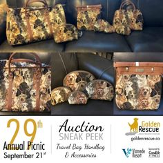 Picnic Auction Sneak Peek! This Travel Bag, Hand Bag and accessories generously donated by Cynthia and Joe Howe and Jenny #2667, will be up for auction at this year's picnic. Make sure you're there so you don't miss out! ***If you are bringing an auction item to the picnic, please email sa@goldenrescue.ca with the information. We need to ensure we have this information ahead of time so that we can have the bid sheets ready and items listed on the auction list. Thank you!!*** For more… Auction Items, Travel Information, Travel Bag, Life Is Good, Picnic, Bags, Accessories, Handbags, Life Is Beautiful