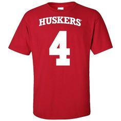 Nebraska Cornhuskers Football # 4 Jersey Tee Shirt