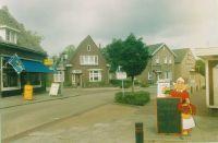 Postelstraat:Gezien vanuit De Hoornmanstraat, van links naar rechts; handelshuis van der Vleuten,Woonhuis famillie Vervlossen, Woonhuis Familie Berkers,Zaal-Wintertuin Wapen van Someren.